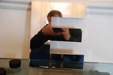 Large reclaimed 3D metal shop letter E - mirror finish effect - 30cm tall