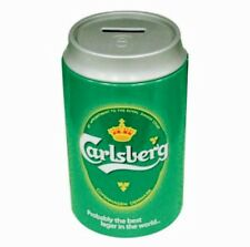 Carlsberg SAVINGS TIN SMALL Piggy Bank Can Money Saver Tin/Box , NEW