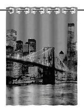 Tela de cortina de ducha de lujo baño moderno 100% Poliéster 180x180 Brooklyn