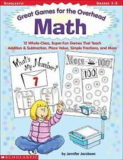 Math: Great Games for the Overhead, Grades 1-3 Jacobson, Jennifer Paperback