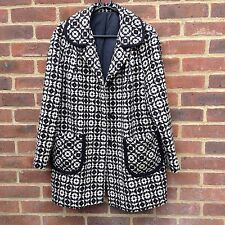 Authentic Vintage Welsh Tapestry Tweed Wool Coat Jacket Rare Colours L Unique