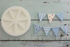 Silicone Mould, Bunting, Flags, Nautical, Food Grade Ellam Sugarcraft M012