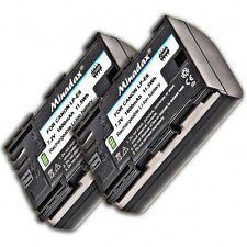 2x Minadax Li-Ion Power Akkus f. Canon EOS 5D Mark 3 Mark 2 ersetzt LP-E6 Akku