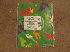 Teletubbies Gift Wrap Green Sealed Wrapping Paper Sheet Carlton Cards