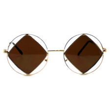 "NEW 7 LUXE Gold ""DIAMOND GIRL"" Hippie Round Sunglasses -SALE"