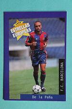 PANINI ESTRELLAS EUROPEAS 1996  N. 41 BARCELONA DE LA PENA MINT!!!