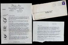 1944 DUNCAN HINES Vintage BOWLING GREEN KY Signed AUTOGRAPH Letter GREAT CONTENT