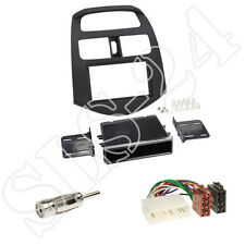 Chevrolet Spark 2010-2013 Blende+Fach +ISO Radio Adapterkabel+Antenne Set