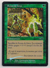 MTG Magic NEM FOIL - Seal of Strength/Sceau de Force, French/VF