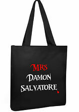 Vampire Diaries Tote Cotton Shopper Mrs Damon Salvertore college book  Bag