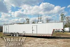 NEW 2016 8.5X48 8.5 X 48 ENCLOSED GOOSENECK CARGO CAR HAULER TOY TRAILER LOADED