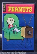 "Peanuts Gold Key #1 Comic Book 2"" X 3"" Fridge  Magnet. Charlie Brown Snoopy"