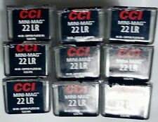 9x CCI MINI-MAG 22 LR Long Rifle PLASTIC Ammo Box Case Storage Containers DENTED