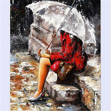 UMBRELLA GILR ARTIST COLLECTION PAINT BY NUMBERS ART ACRYLIC PAINTING ON CANVAS