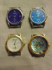 BARGAIN NOS NAVAJO SELECTIME FOSSIL MOP QUARTZ PLATED CASE WATCH FANCY 4 PC. LOT