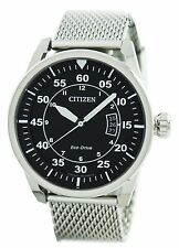 Citizen Aviator Eco-Drive Mesh Band AW1360-55E Mens Watch