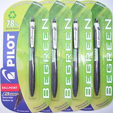 PILOT Begreen Retrattile Nero Medium penne a sfera x 10 confezionato singolarmente