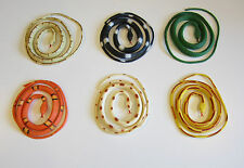 "6 COILED RAIN FOREST RUBBER SNAKES 36"" TOY REPTILE FAKE JUNGLE SNAKE GAG GIFT"