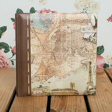 Old World Map - 6x4 Memo 200 Travel Photo Album *Great Travel Journal Album*