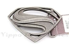 "Superman Vintage Officially Licensed ""S"" Symbol Metal Fashion Belt Buckle"