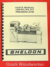 SHELDON R13, R15, R17 Precision Metal Lathe Parts Manual 0655