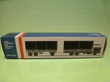 LION CAR 74 DAF TRUCKS 3300 TRUCK + TRAILER - 1:50 GOOD - * ONLY EMPTY BOX * (4)