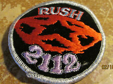 RUSH COLLECTABLE RARE VINTAGE PATCH EMBROIDED 90'S METAL LIVE