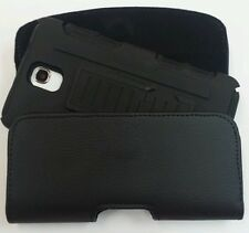XL LEATHER  BELT CLIP HOLSTER  FOR HTC ONE M9  FITS A HYBRID CASE ON PHONE