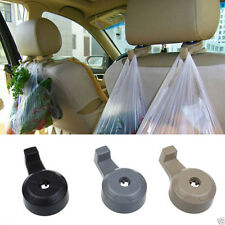 2Pcs Universal Portable Car Seat Hanger Purse Bag Organizer Holder Hook Headrest