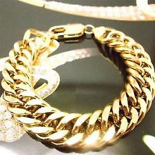 "10"" Chain No Stone 18K Gold Filled Men Bracelet or Lady' Anklet & Xmas Gift Box"