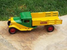 1930'S Buddy L City Dray Truck Hauler Delivery Pressed Steel Art 2 Tone Colors