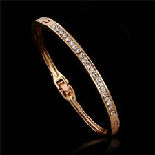 Wholesale Hot Sale 18K Rose Gold Filled Austrian Crystal Fine Bracelet Bangle