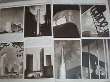 Photo article architecture at the World's Fair New York USA 1939