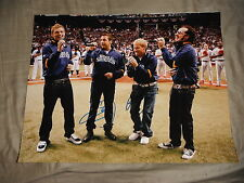 BACKSTREET BOYS GROUP SIGNED WORLD SERIES NATIONAL ANTHEM 11X14