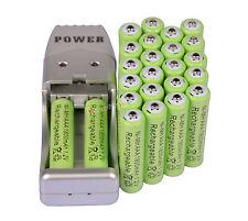 24X Batería recargable AAA 3A 1800mAh 1.2V NiMH verde color + USB Cargador