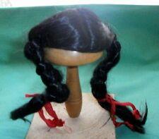"""doll wig black 8"""" braids"""