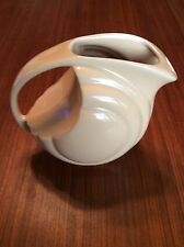 Vintage Art Deco Hall China/Pottery Pitcher, Signed #1338, Beige