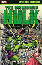 Incredible Hulk Epic Collection: Man or Monster? by Stan Lee, Steve Ditko (Pape…