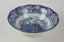 """8"""" Liberty Blue China Vegetable Bowl Fraunces Tavern Staffordshire - 4 available"""