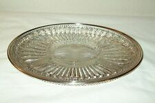 LEONARD SILVERPLATE  SERVING TRAY WITH DIVIDED GLASS INSERT