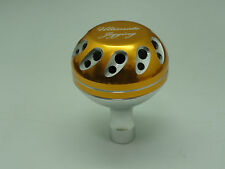 U.J. PRK 40mm Knob for SHIMANO Stella SW 5000 - 20000 Twinpower reel Gold/SV