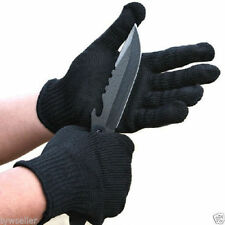 1Pair Black Stainless Steel Wire Safety Works Anti-Slash Cut Resistance Glove IB