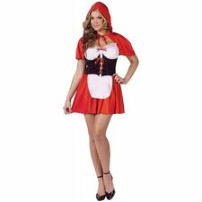 Halloween Costume Red Hot Riding Hood Adult Sexy Storybook Fairytale Fantasy