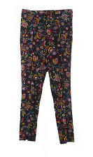 TOPSHOP Women's Black/Multi Floral Skinny Pants US Size 4 NEW