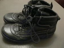 MENS BLACK LEATHER BOOTS FROM LEE COOPER - SIZE 7 1/2 - HIKING / WORK WEAR