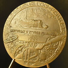 Médaille Levallois-Perret à Jean Faisan 1935 Péniche en bords de Seine medal