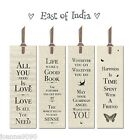 EAST OF INDIA BOOKMARK BOOK MARK BOOKMARKS SAYINGS SLOGAN GIFT NEWSPRINT QUOTE