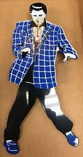 Elvis Presley Pendulum Quartz Wall Clock Rocking Legs Blue Jacket Original Box