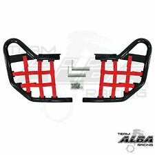 Yamaha Raptor 250 125  Nerf Bars  Alba Racing  Black Bar  Red Nets     192 T1 BR