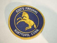 Vintage Colt's Firearms Hartford, Conn. Horse Illustration Logo Sew On Patch
